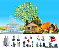 водяной насос для дачи, дома или огорода