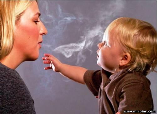 мама курит