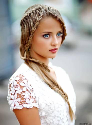 Прически из длинных волос модные косы