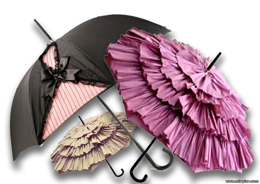 Оригинальные зонтики своими руками