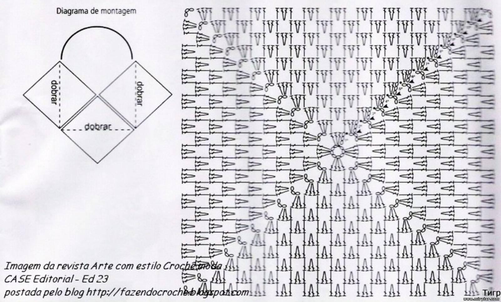 Вязание крючком простые схемы сумок