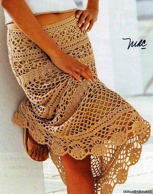 Вязание юбок крючком лето модные