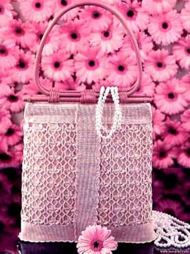 Красивые схемы вязания сумки крючком - отличного качеста.