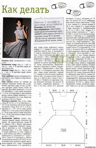 Скачать схемы вязания спицами платье