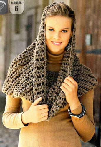 вязание спицами шарф снуд.