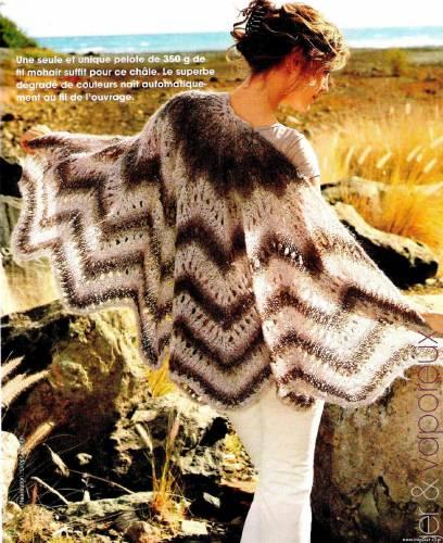 Вязаное пончо в стиле Миссони Спицы.  Еще новые модели.
