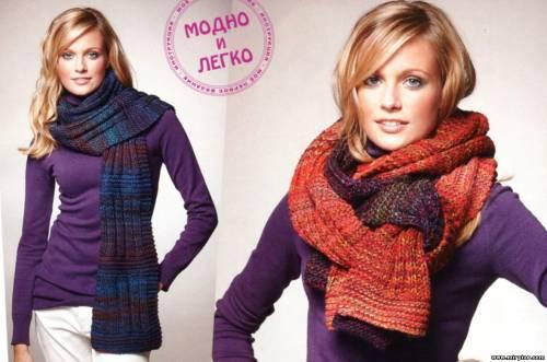 Вязание шарфов узоры.