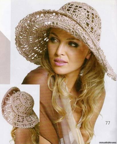 вязаные летние шляпы