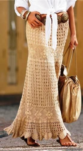Клуб Модного трикотажа.  Длинная юбка крючком 5.