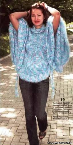 летний свитер-накидка