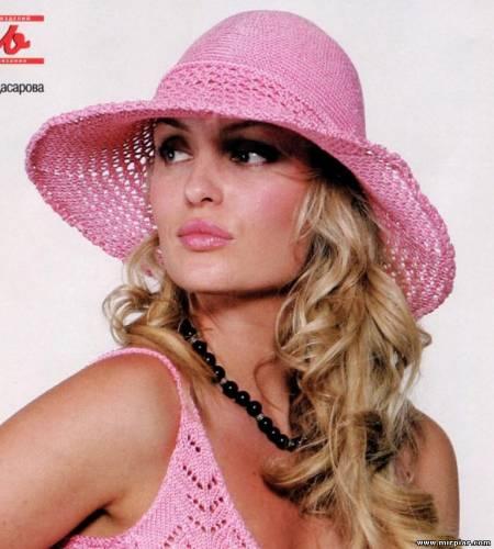 связать спицами шапку женскую объемную