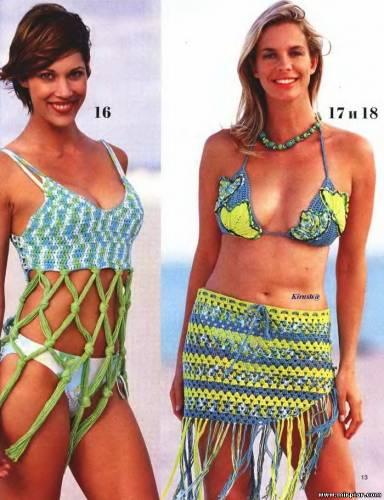 Пляжная мода крючком фото