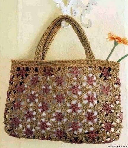 Вязаные сумки для пляжа и