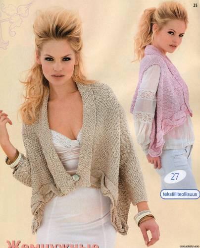 Пятница, 05 Октября 2012 г. 09:40. женские модели. жакет спицами. жилет спицами. схемы. tutorial
