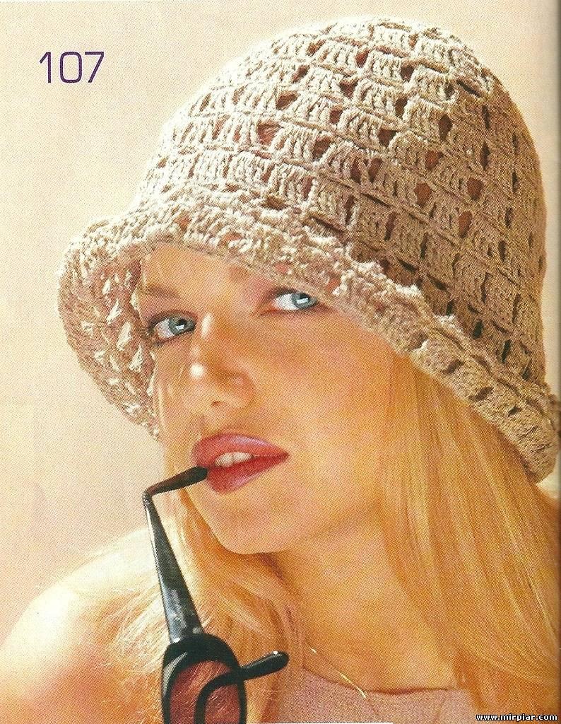 Вязание крючком панама для женщины 75