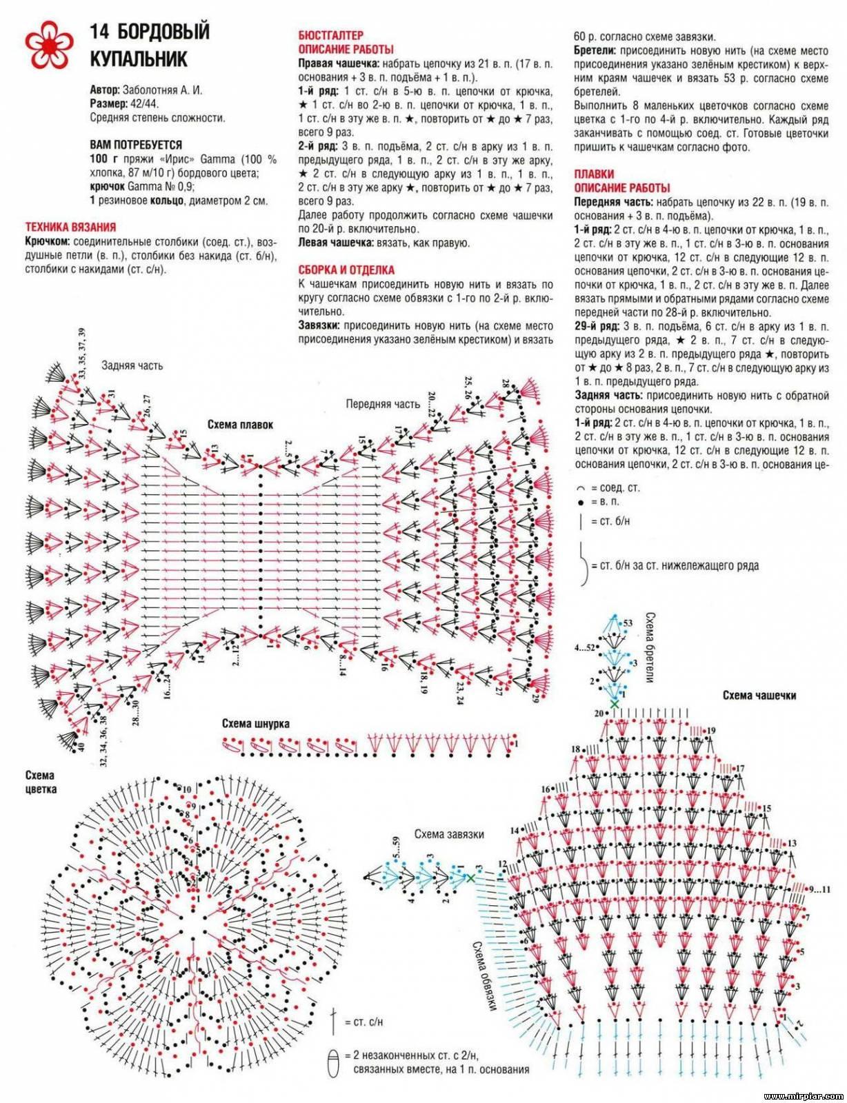 Схемы вязаной купальник