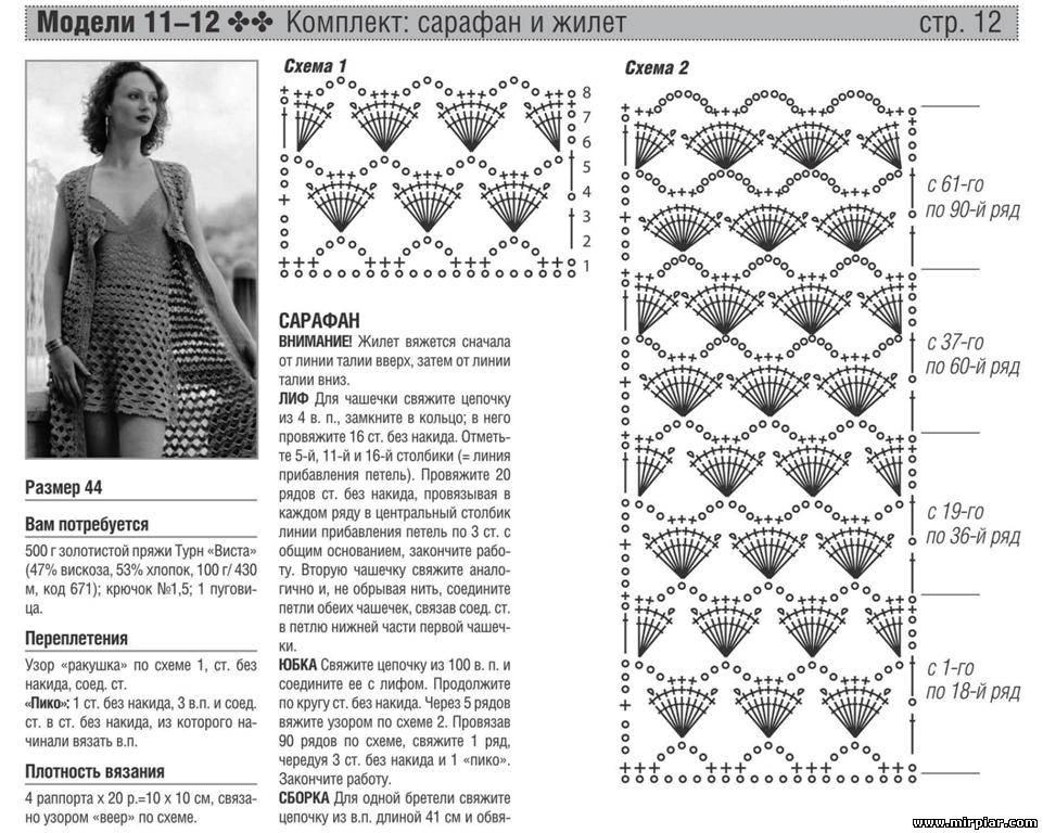 Вязаные жилеты схема вязания