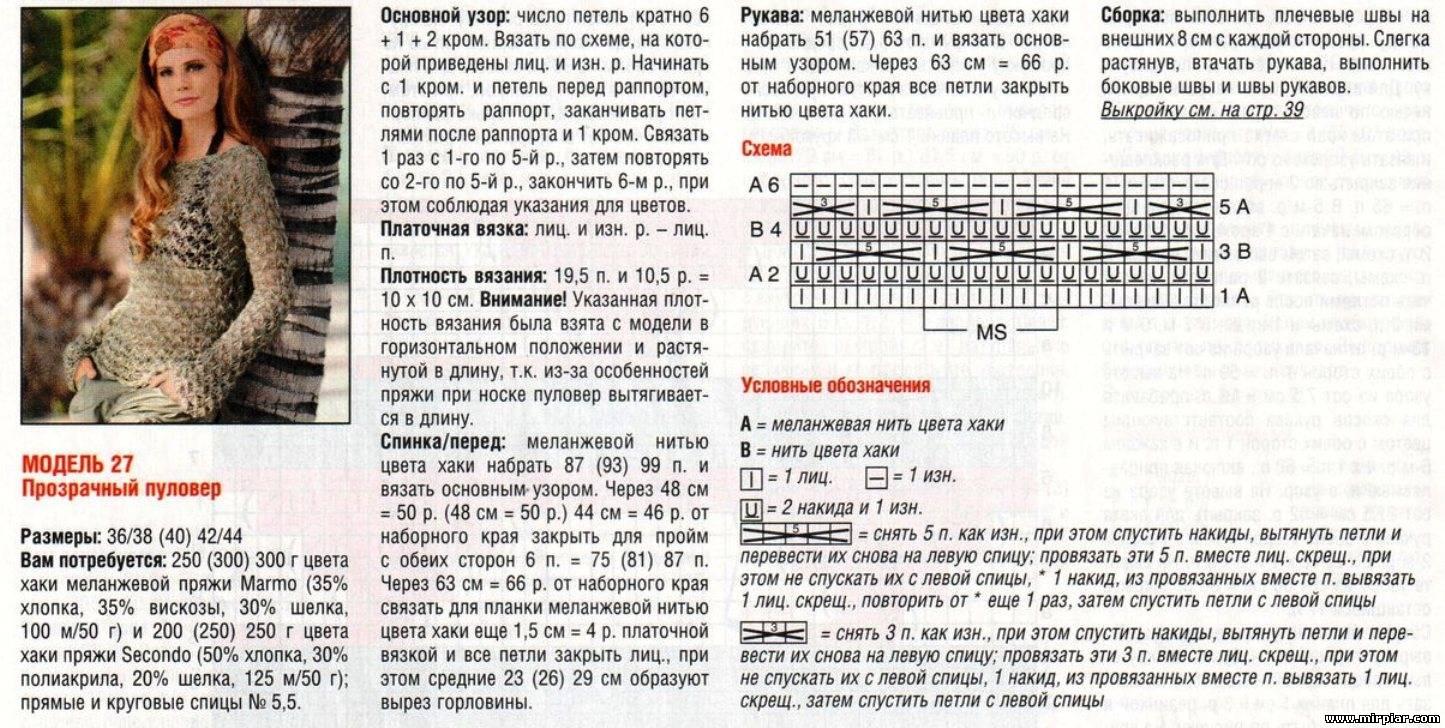 Вязание спицами модели и схемы на русском