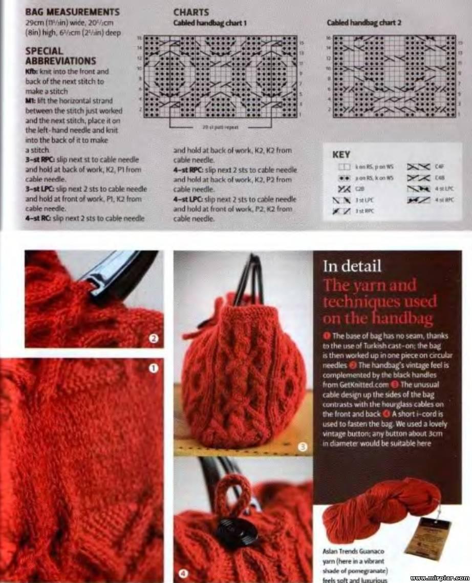 Журнал вязание на спицах сумки