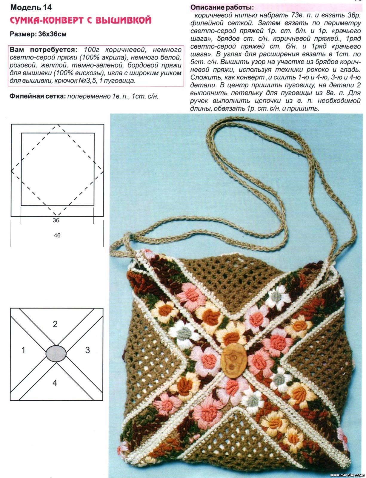Вязание крючком модели сумочек 25