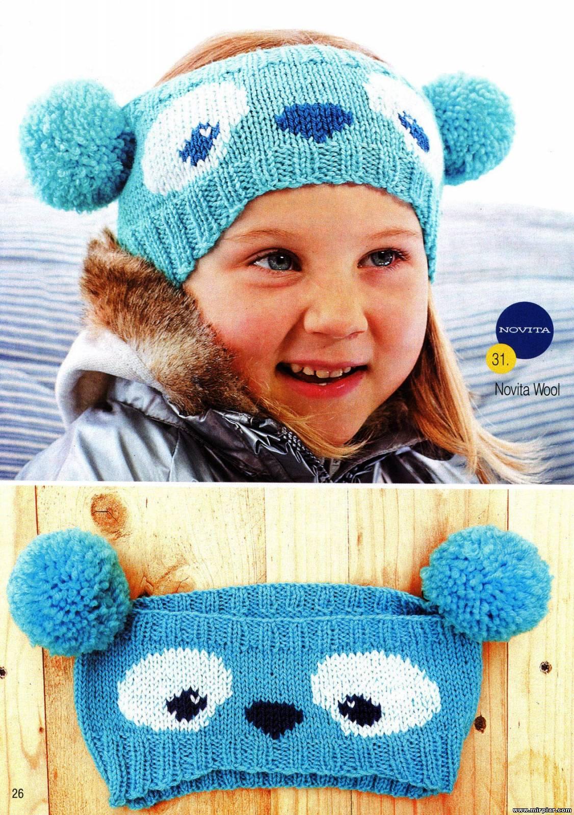 Вязаная повязка на голову для девочки (36 фото детские) 34