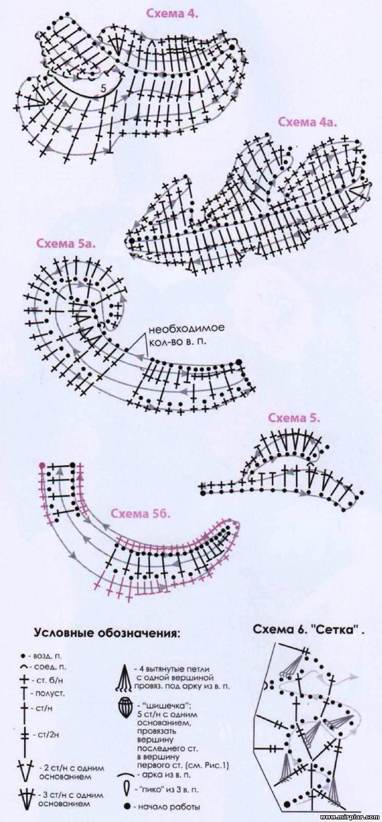 Как вязать мак крючком схема 78