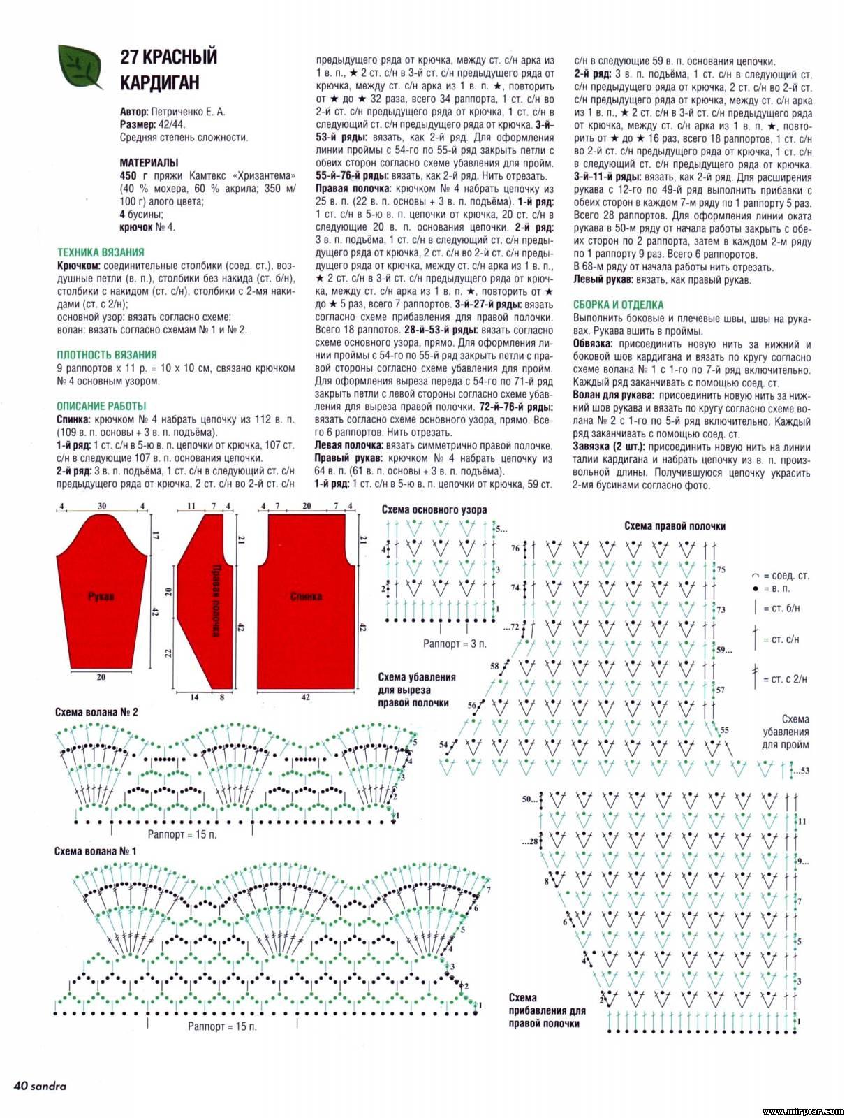 Вязание проймы и втачного рукава по М. В. Максимовой - Страна 93