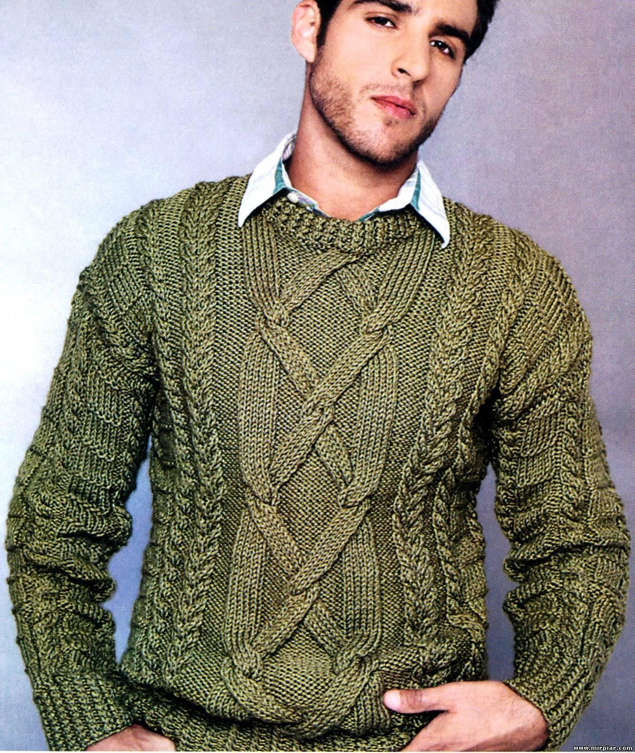 вязание спицами для полных мужчин схемы