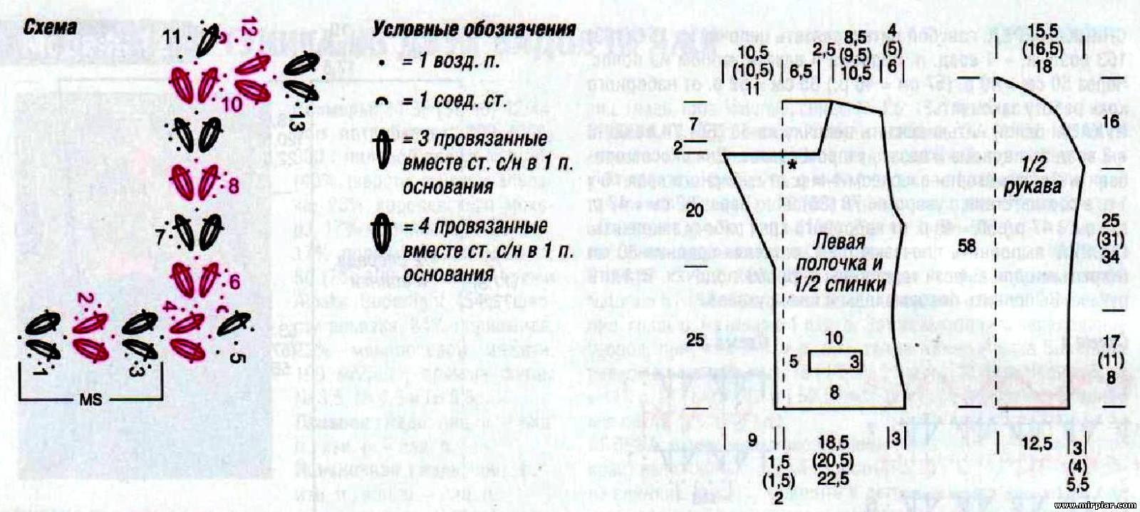 Вяжем шанель схема 164