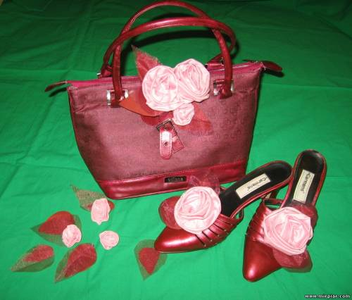 переделка Красим и декорируем туфли и сумку