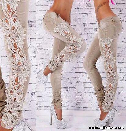 переделка джинсов, переделка джинсов с помощью вязания, переделка, вязание и ткань