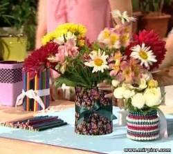 Как сделать вазу своими руками из остатков