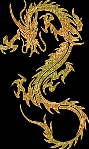 Декоры в виде драконов.