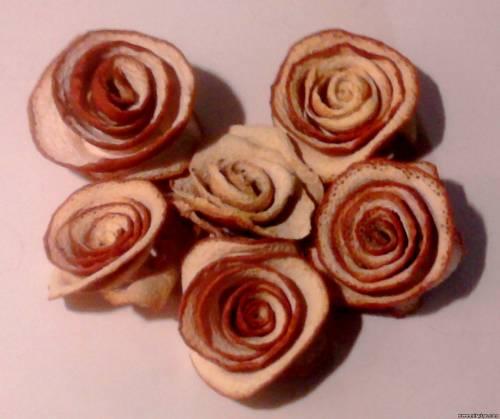 розы из апельсина для светильника