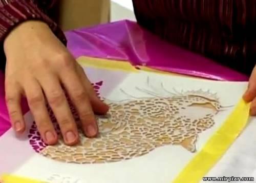 украшение одежды роспись по трафарету