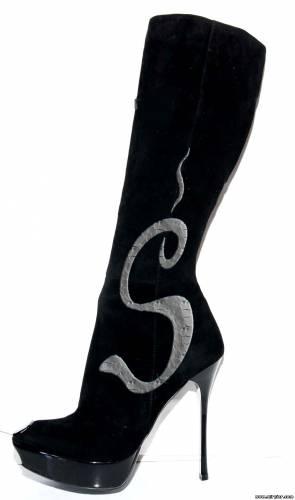 как украсить сапоги принт Змея
