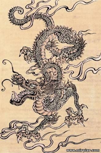 дракон трафарет
