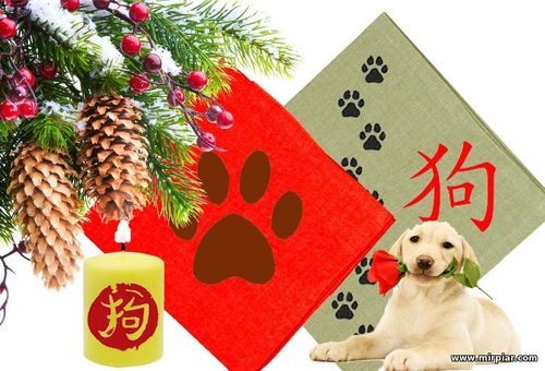как украсить новогодний стол в год Собаки