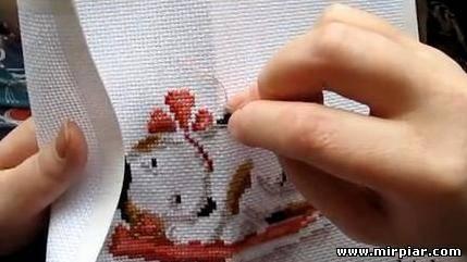 вышивка животных