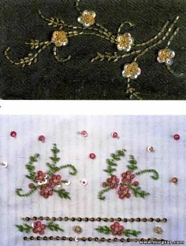 узоры для вышивания бисером на одежде.