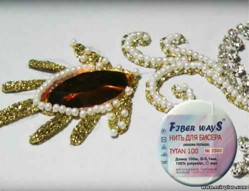 вышивка бисером, бисерная нить