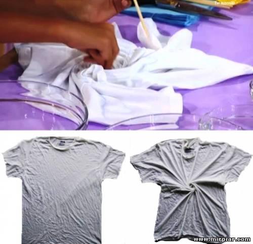 спиральное окрашивание ткани