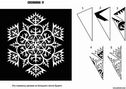 Еще схемы вырезания снежинок и