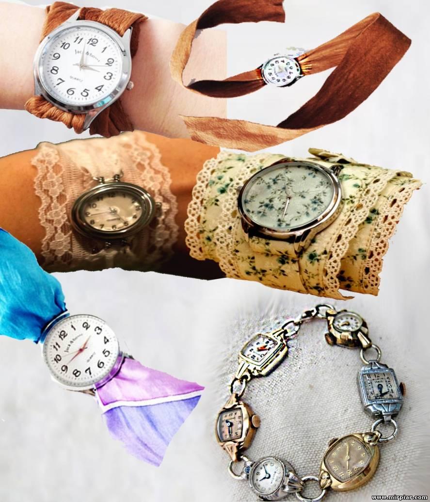 Как украсить наручные часы своими руками фото