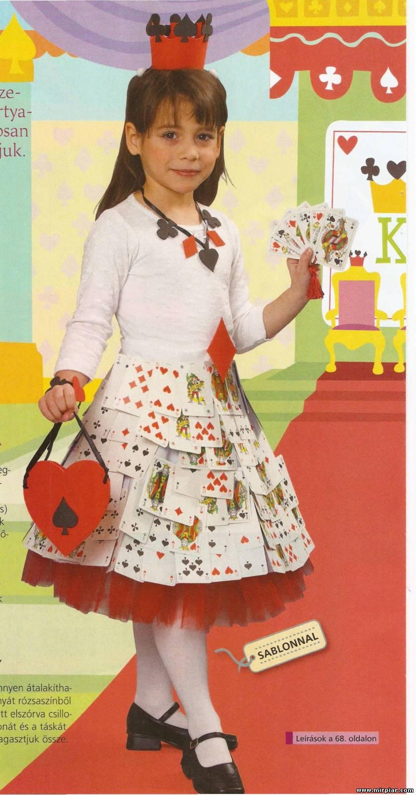 Костюм карточной королевы своими руками