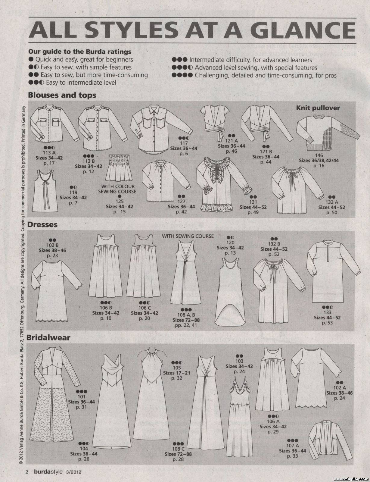 Бурда моден свадебные платья выкройки 9