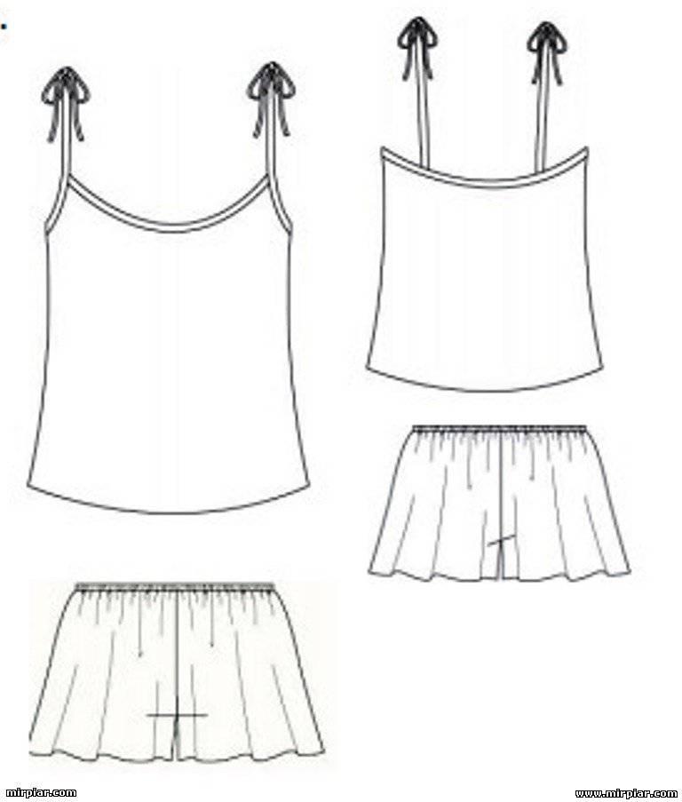 Как сшить пижамную рубашку 29