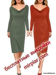 Скачать бесплатные выкройки платья free pattern