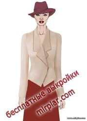 free pattern, жакет, выкройка жакета, pattern sewing, выкройки бесплатно, выкройки скачать, jacket, выкройка, одежда, готовые выкройки, шитье, мода