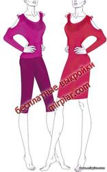 летний пуловер,блуза, туника, free pattern, выкройки скачать, Скачать, шитье, рукоделие, выкройки RedCafe, выкройки бесплатно